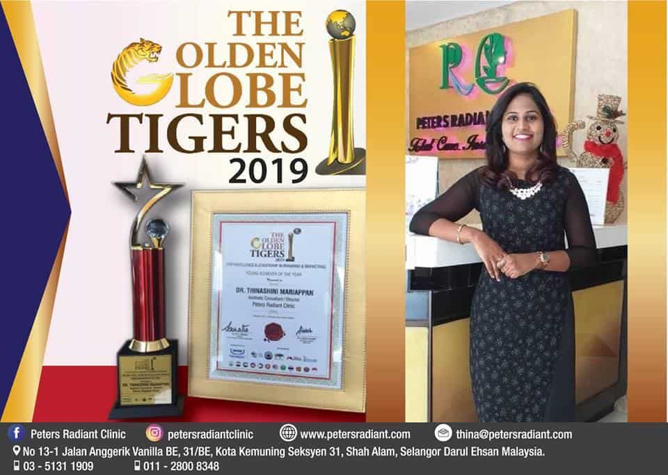 Dr Thina Peter The Golden Globe Tigers Award